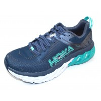 Hoka One One Women's Arahi 2 Wide In Poseidon/Vintage Indigo