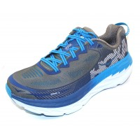Hoka One One Men's Bondi 5 Wide In Charcoal Grey/True Blue