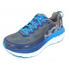 Hoka One One Men's Bondi 5 In Charcoal Grey/True Blue