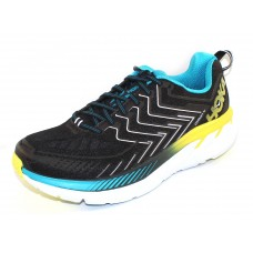 Hoka One One Men's Clifton 4 In Black/Cyan/Citrus