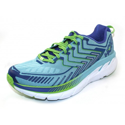 Hoka One One Women's Clifton 4 In Sky Blue/Surf The Web