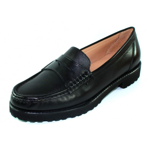 Just Our Shoes Women's Tigre 1799 In Black Calf Leather