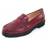 Just Our Shoes Women's Tigre 1799 In Bordo Wine Calf Leather