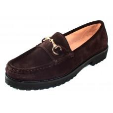 Just Our Shoes Women's Zoe 3202 In Testa Di Moro Dark Brown Suede