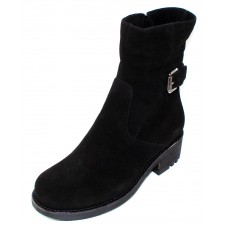 La Canadienne Women's Camilla In Black Waterproof Suede
