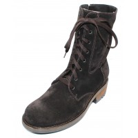 La Canadienne Women's Carolina In Brown Waterproof Oiled Suede