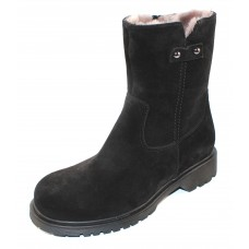 La Canadienne Women's Hunter In Black Waterproof Suede/Shearling