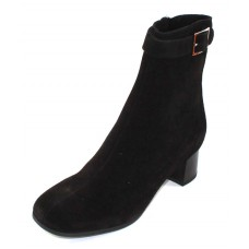 La Canadienne Women's Jasmin In Black Waterproof Suede