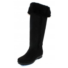 La Canadienne Women's Tiffany In Black Waterproof Suede/Genuine Shearling