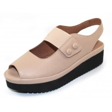 Lamour Des Pieds Women's Adalicia In Nude Sheep Soft Nappa Leather