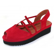 Lamour Des Pieds Women's Adelais In Red Nubuck