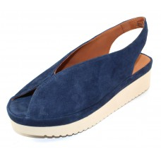 Lamour Des Pieds Women's Ahndray In Navy Blue Kid Suede