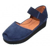 Lamour Des Pieds Women's Amadour In Navy Suede/Black Sole