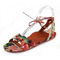 Lamour Des Pieds Women's Darrylynn In Bright Multi Colored Patent Embossed Snake Printed Leather