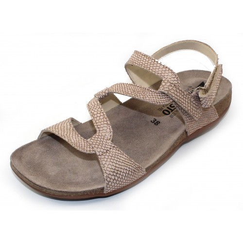 Mephisto Women's Adelie In Camel Python Embsossed Leather 7531