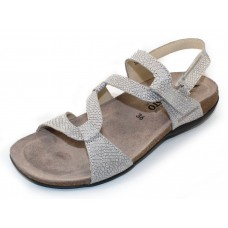 Mephisto Women's Adelie In Silver Python Embossed Leather 7568