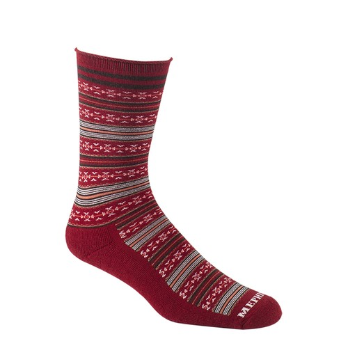 Mephisto Bellevue Crew Sock In Ruby - Six Pair
