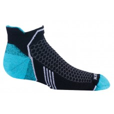Mephisto Crosstrail Womens Sock In Black - Six Pair