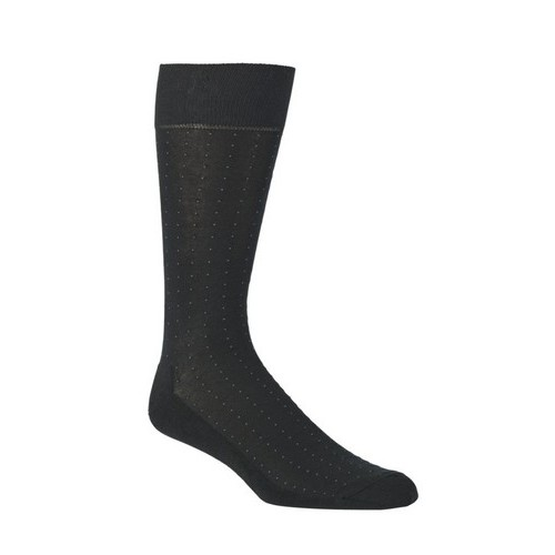 Mephisto Dress Fine Sock Pattern In Black - Six Pair