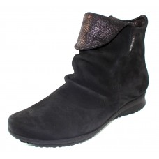 Mephisto Women's Fiorella In Black Bucksoft/Fashion Embossed Glitter Suede 6900/26600