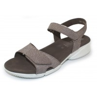 Mephisto Women's Francesca In Dark Taupe Python Embossed Leather 7565