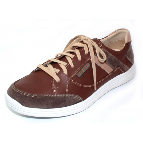 Mephisto Men's Frank In Dark Taupe Orsay Suede/Chestnut Leather/Camel Polo Leather 10565/978/931