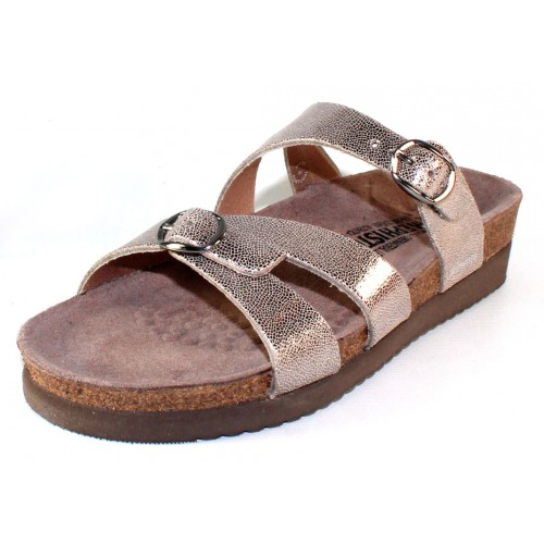Mephisto Women's Hannel In Silver Venise Metallic Leather 19168