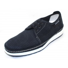 Mephisto Men's Harry Perf In Navy Sportbuck 1945