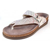 Mephisto Women's Helen In Silver Nairobi Embossed Leather 7768