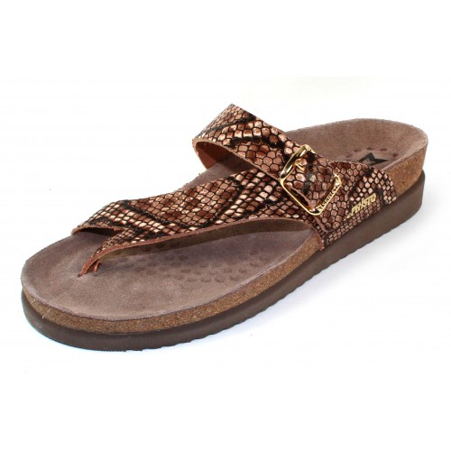 Mephisto Women's Helen Sun In Brown Reptilia Imprinted Leather 20558