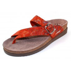 Mephisto Women's Helen Sun In Burnt Orange London Snake Imprinted Leather 24538