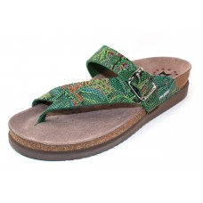Mephisto Women's Helen Sun In Green London Snake Imprinted Leather 24528