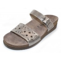 Mephisto Women's Hirena In Silver Vernis Embossed Metallic Leather 19168