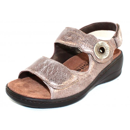 Mephisto Women's Jissy Mobils In Dark Taupe Vintage Metallic Leather 665