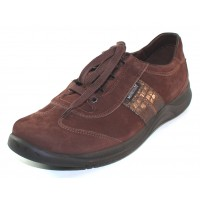 Mephisto Women's Laser In Chestnut Nubuck/Pewter Raptor Embossed Snake Printed Leather 5478/29025