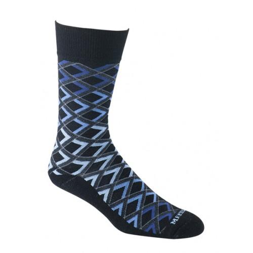Mephisto Madison Crew Sock In Black - Six Pair