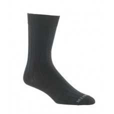 Mephisto Phoenix Ribbed Crew Sock In Black - Six Pair
