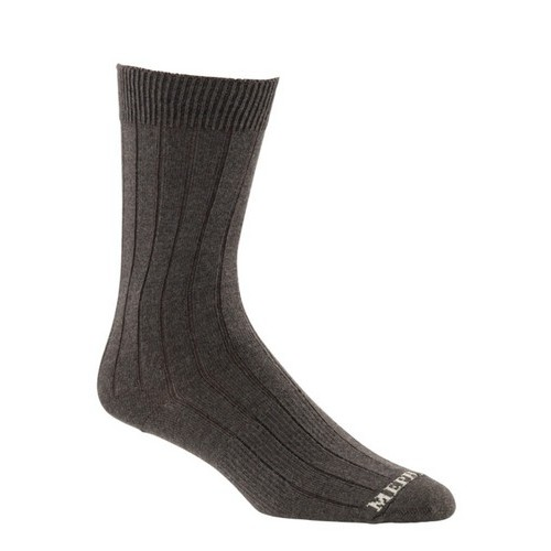 Mephisto Phoenix Ribbed Crew Sock In Brown - Six Pair