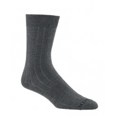 Mephisto Phoenix Ribbed Crew Sock In Charcoal - Six Pair