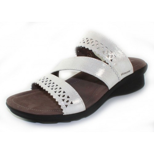 Mephisto Women's Prisca In White Lizard Printed Leather 2330