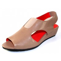 M Maccari Women's Donny In Taupe Kid Leather
