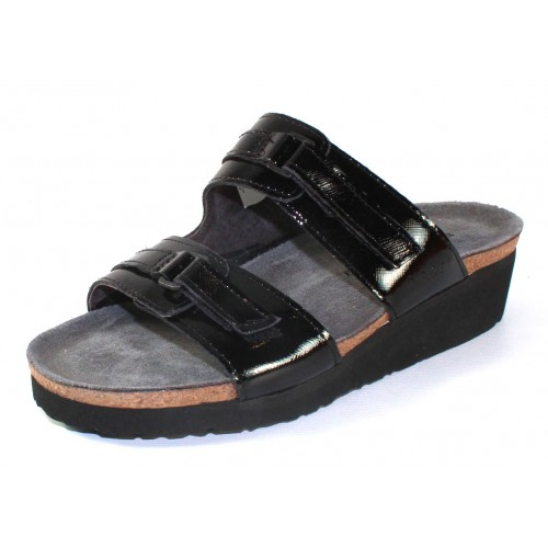 Naot Women's Carly In Black Luster Leather