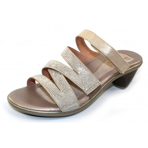 Naot Women's Formal In Gold Threads Leather/Silver Rivets