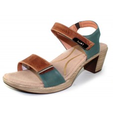 Naot Women's Intact In Latte Brown/Sea Green/Pewter Leather