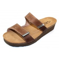 Naot Women's Jacey Wide In Latte Brown Distressed Suede/Leather