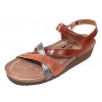 Naot Women's Sophia In Maple Brown Leather/Latte Brown Leather/Mirror Leather
