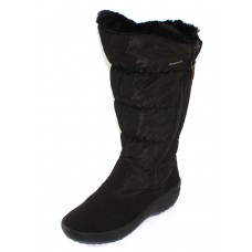 Pajar Women's Amanda In Black Waterproof Nylon/Waterproof Suede
