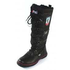 Pajar Women's Grip Zip In Black Waterproof Leather/Nylon