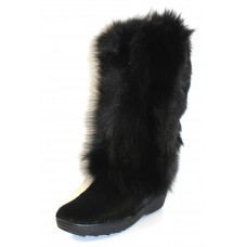 Pajar Women's Kim In Black Solid Fox/Cow Hair Calf