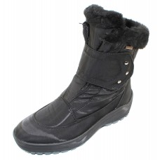 Pajar Women's Moscou 2 In Black Waterproof Nylon/Leather